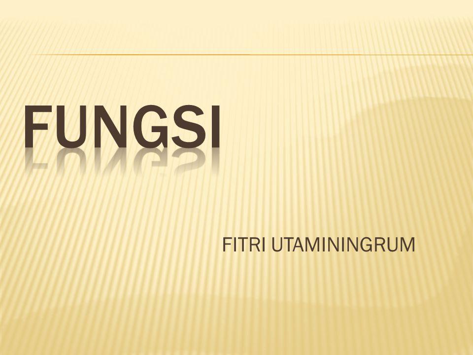 FUNGSI FITRI UTAMININGRUM