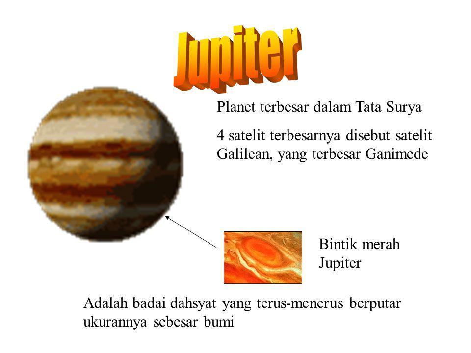 JUPITER Jupiter Planet terbesar dalam Tata Surya