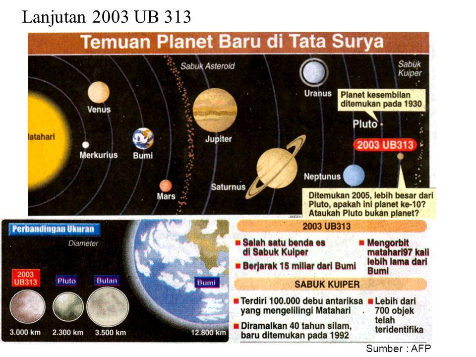 Lanjutan 2003 UB 313 Sumber : AFP