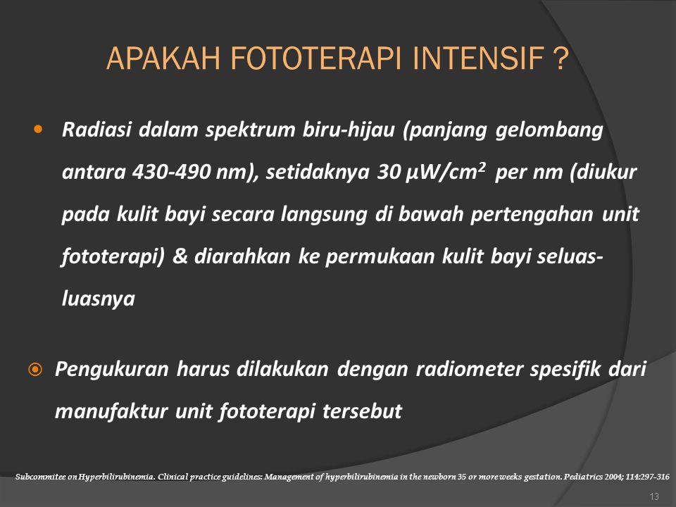 APAKAH FOTOTERAPI INTENSIF