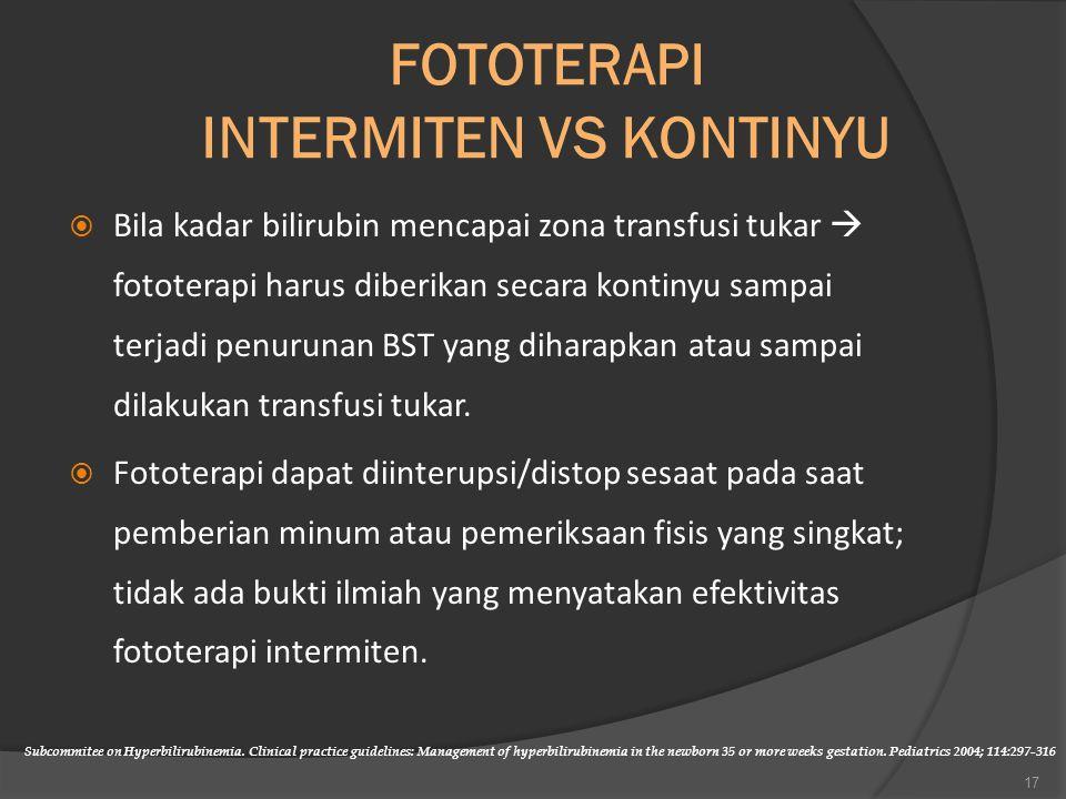 FOTOTERAPI INTERMITEN VS KONTINYU