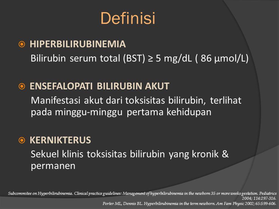 Definisi Hiperbilirubinemia