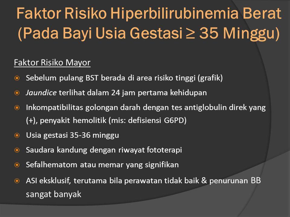 Faktor Risiko Hiperbilirubinemia Berat (Pada Bayi Usia Gestasi ≥ 35 Minggu)