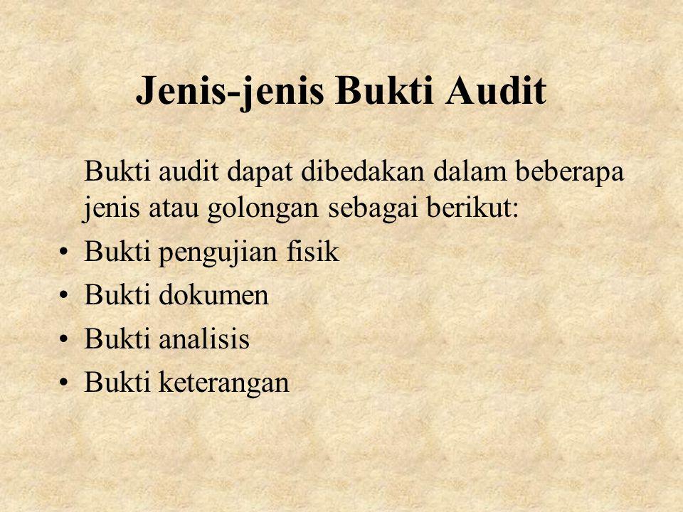 Jenis-jenis Bukti Audit
