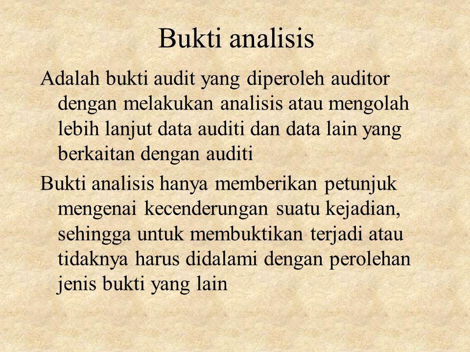 Bukti analisis