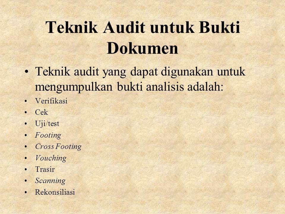 Teknik Audit untuk Bukti Dokumen
