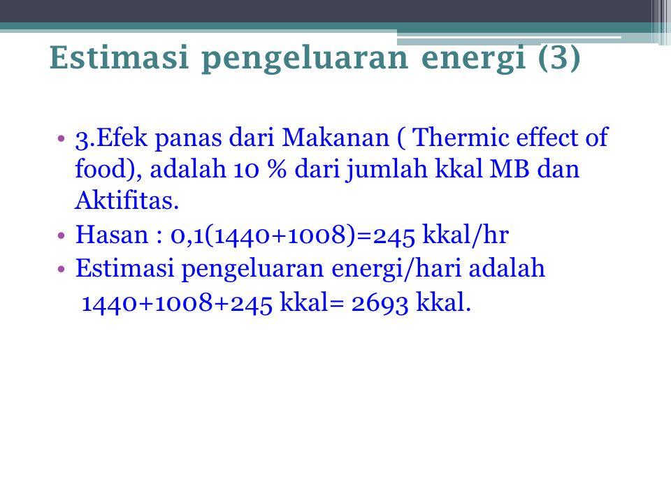 Estimasi pengeluaran energi (3)