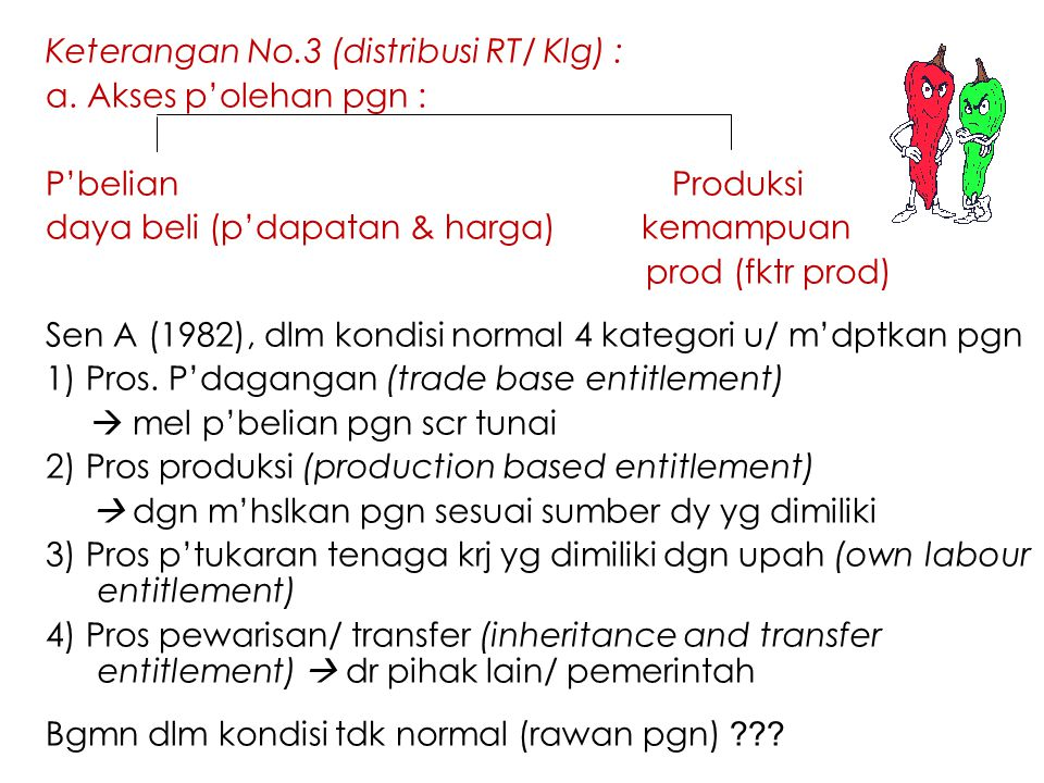 Keterangan No.3 (distribusi RT/ Klg) :