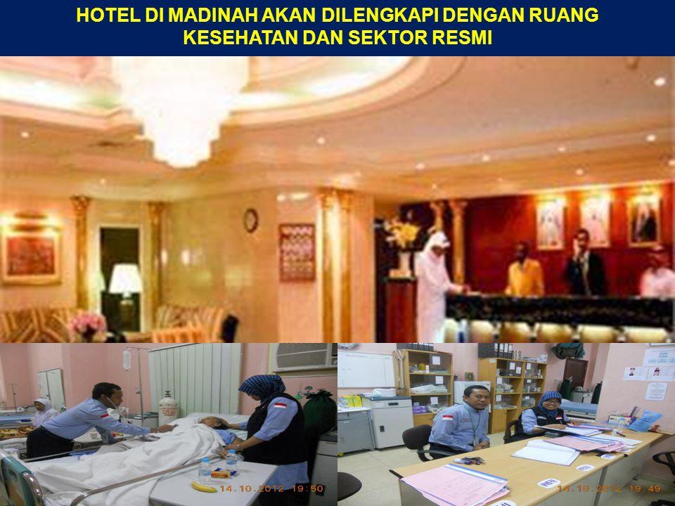 HOTEL DI MADINAH AKAN DILENGKAPI DENGAN RUANG