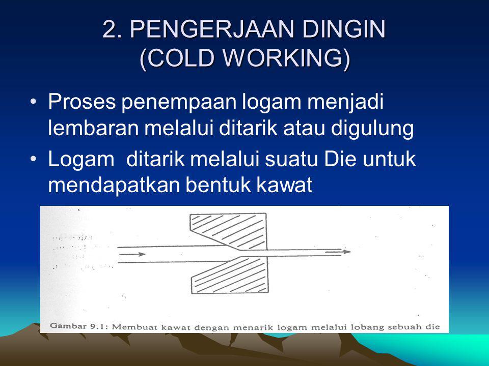 2. PENGERJAAN DINGIN (COLD WORKING)