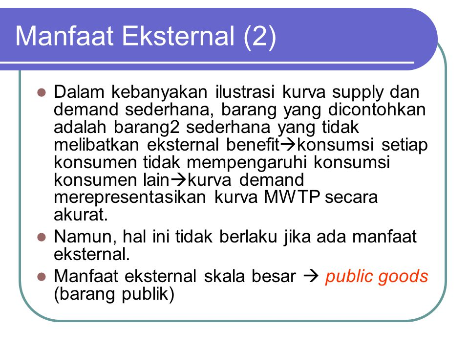 Manfaat Eksternal (2)