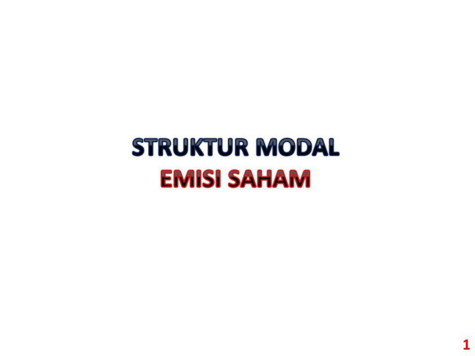 STRUKTUR MODAL EMISI SAHAM