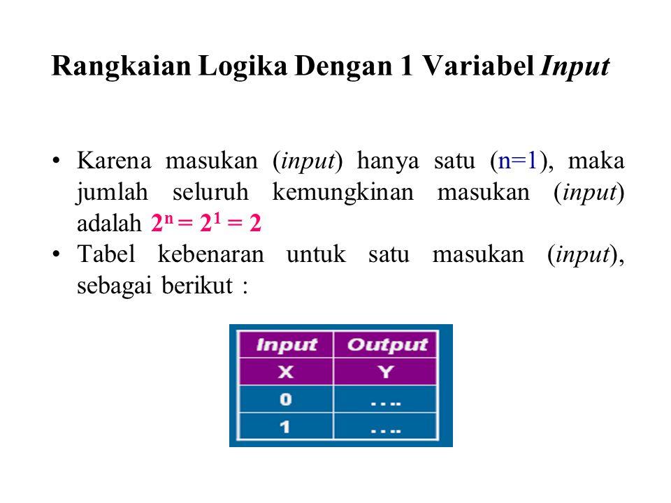Rangkaian Logika Dengan 1 Variabel Input