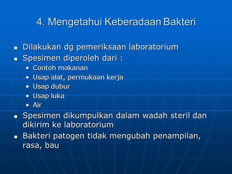 4. Mengetahui Keberadaan Bakteri