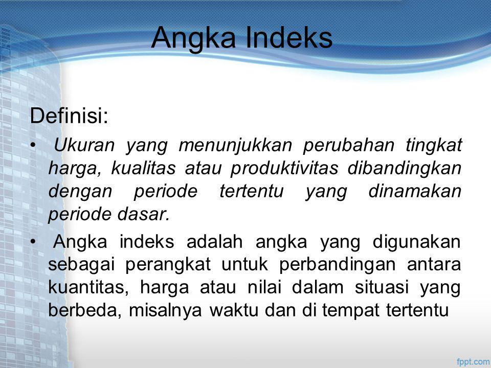 Angka Indeks Definisi: