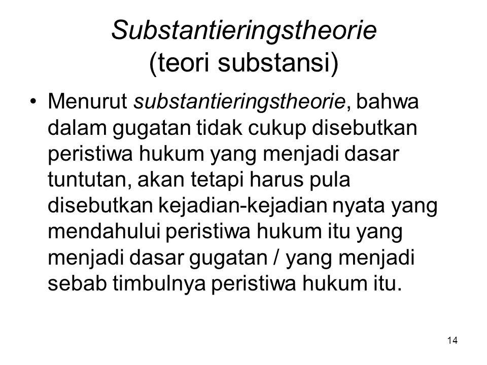 Substantieringstheorie (teori substansi)