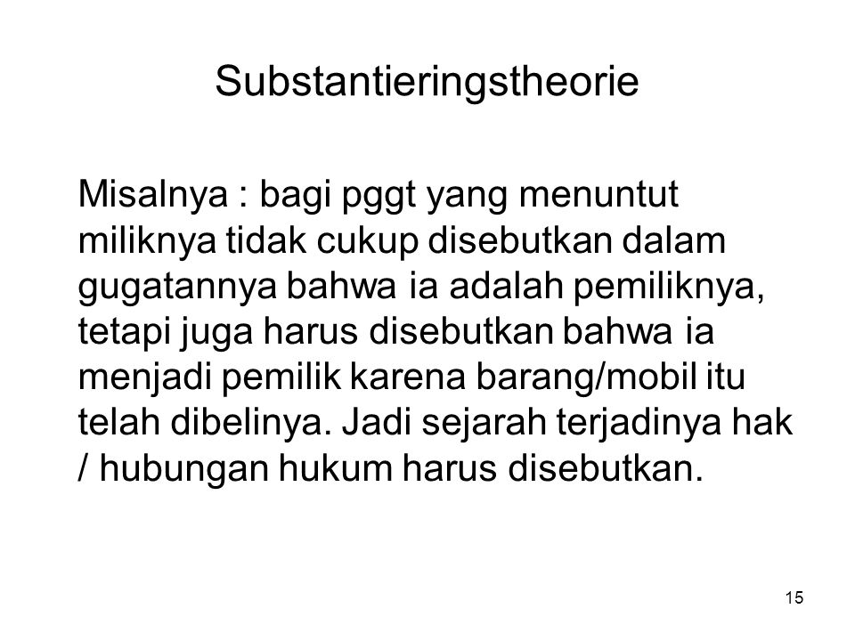 Substantieringstheorie