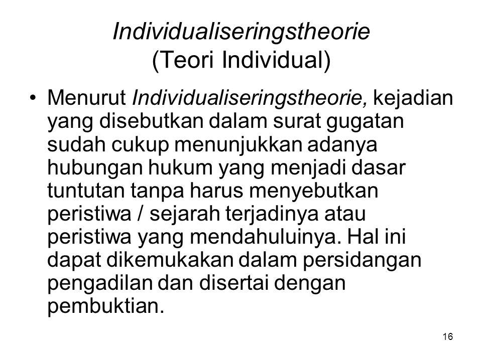 Individualiseringstheorie (Teori Individual)
