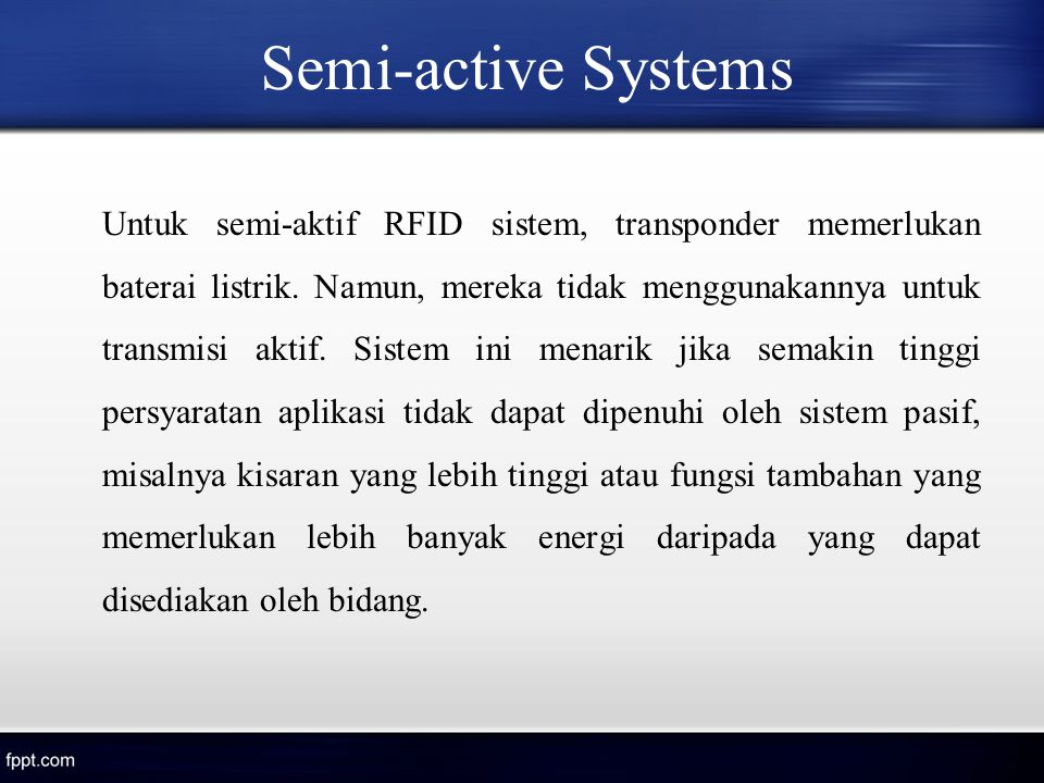 Semi-active Systems