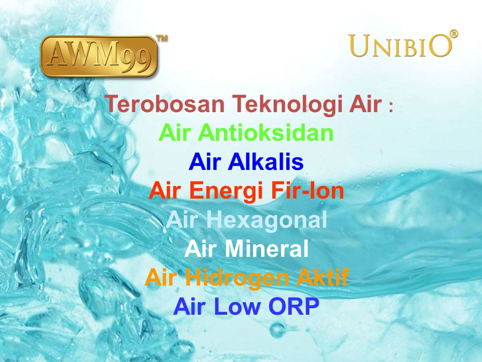 Terobosan Teknologi Air :