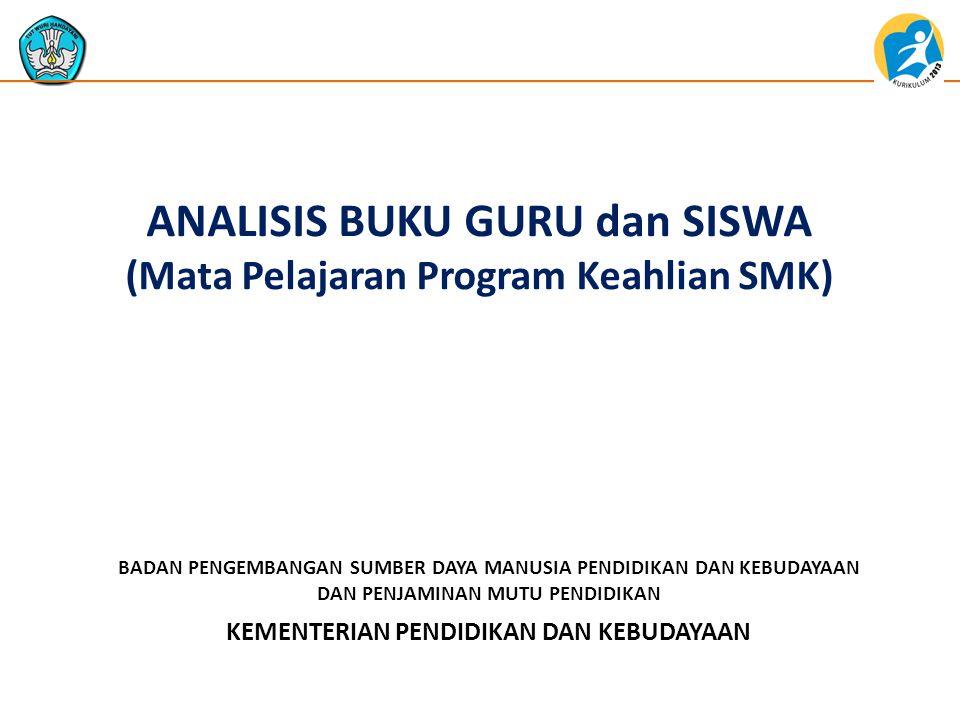 ANALISIS BUKU GURU dan SISWA (Mata Pelajaran Program Keahlian SMK)