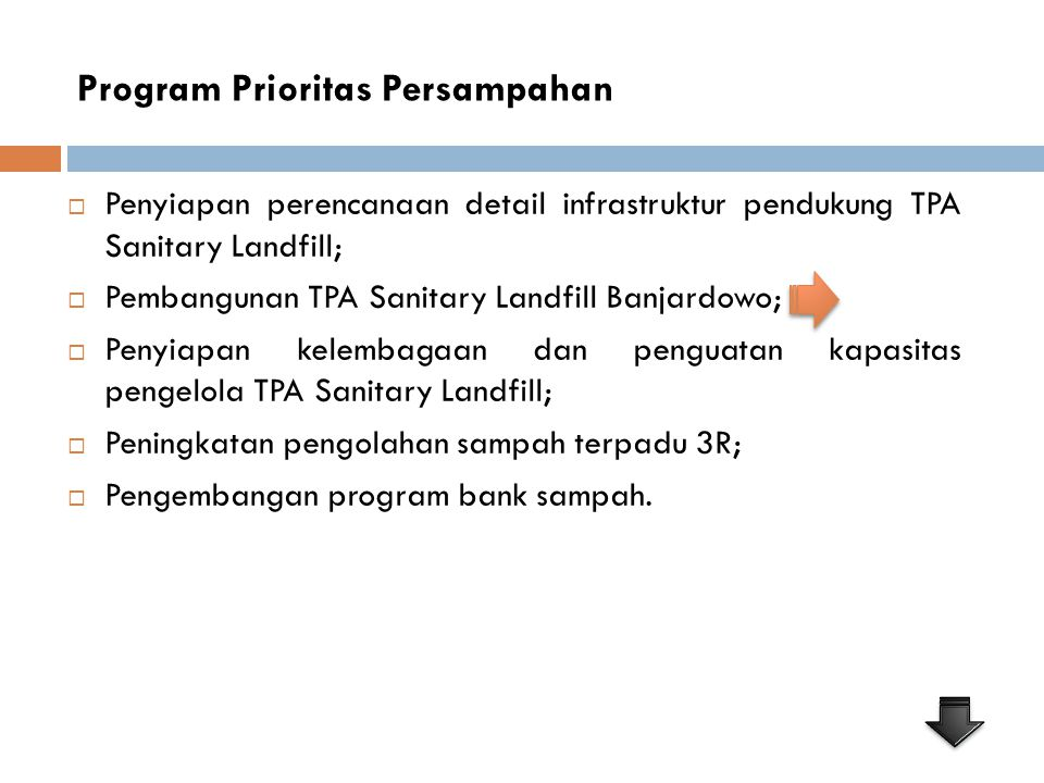 Program Prioritas Persampahan