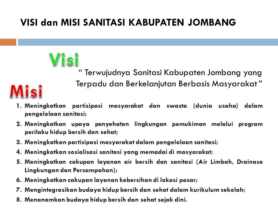 VISI dan MISI SANITASI KABUPATEN JOMBANG