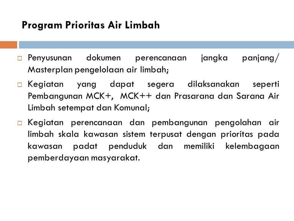 Program Prioritas Air Limbah
