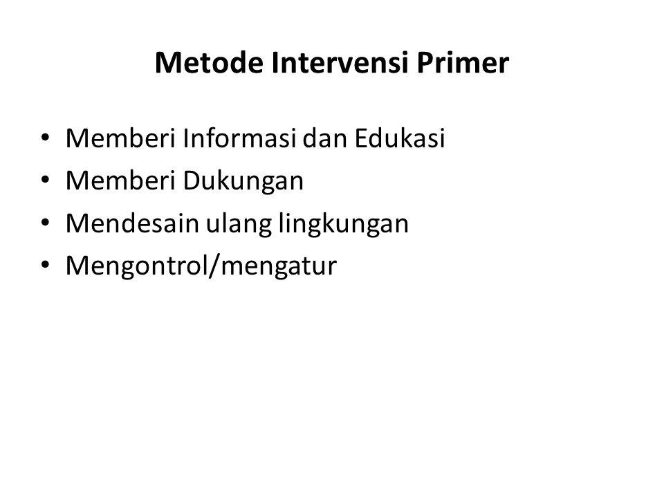 Metode Intervensi Primer
