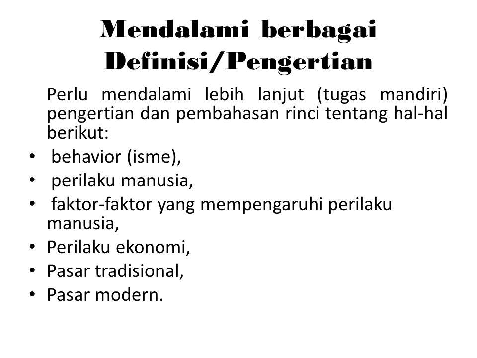 Mendalami berbagai Definisi/Pengertian