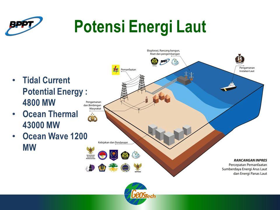 Potensi Energi Laut Tidal Current Potential Energy : 4800 MW