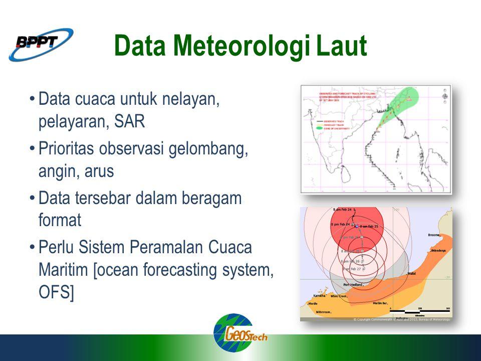Data Meteorologi Laut Data cuaca untuk nelayan, pelayaran, SAR