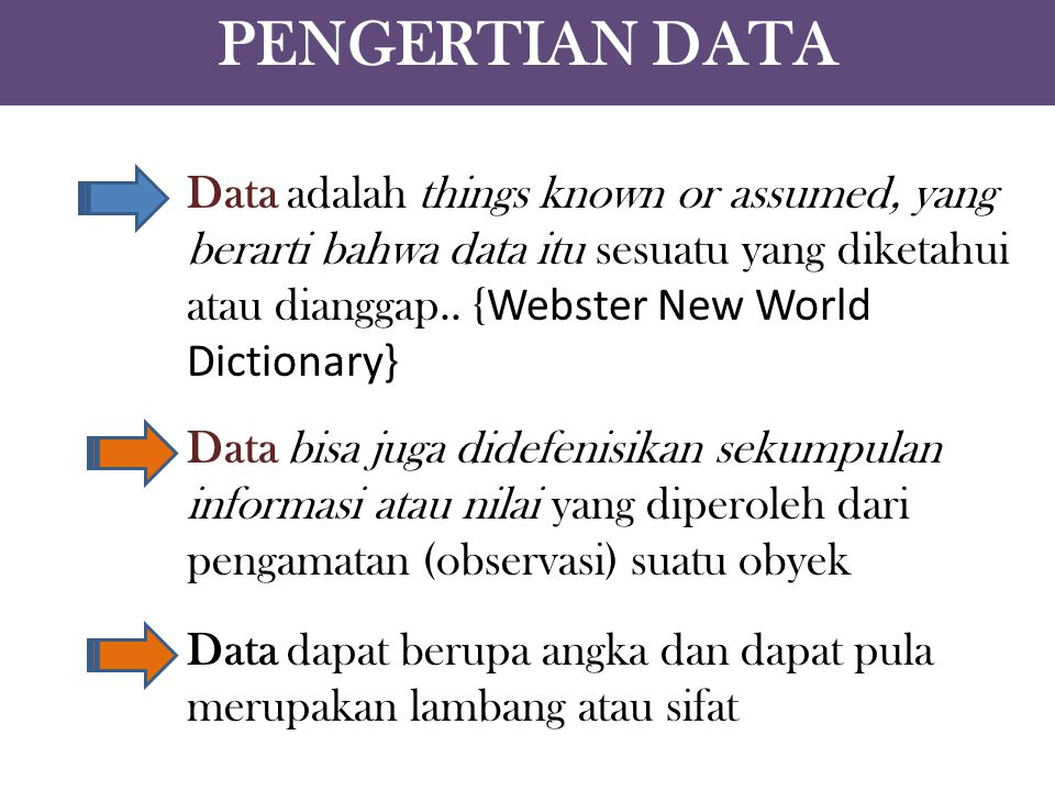 PENGERTIAN DATA