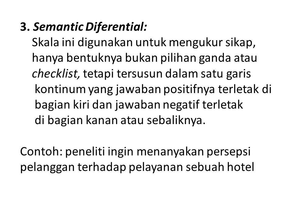 3. Semantic Diferential: