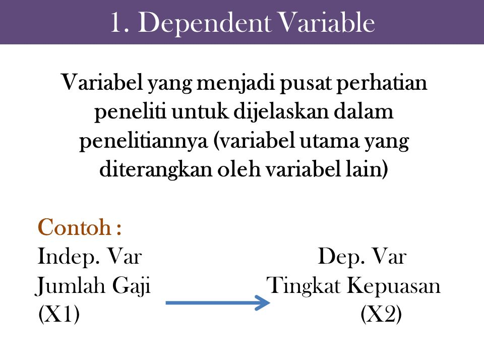 1. Dependent Variable