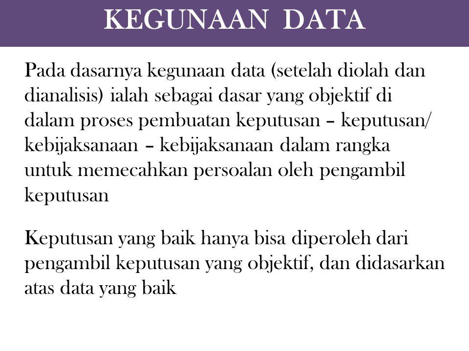 KEGUNAAN DATA