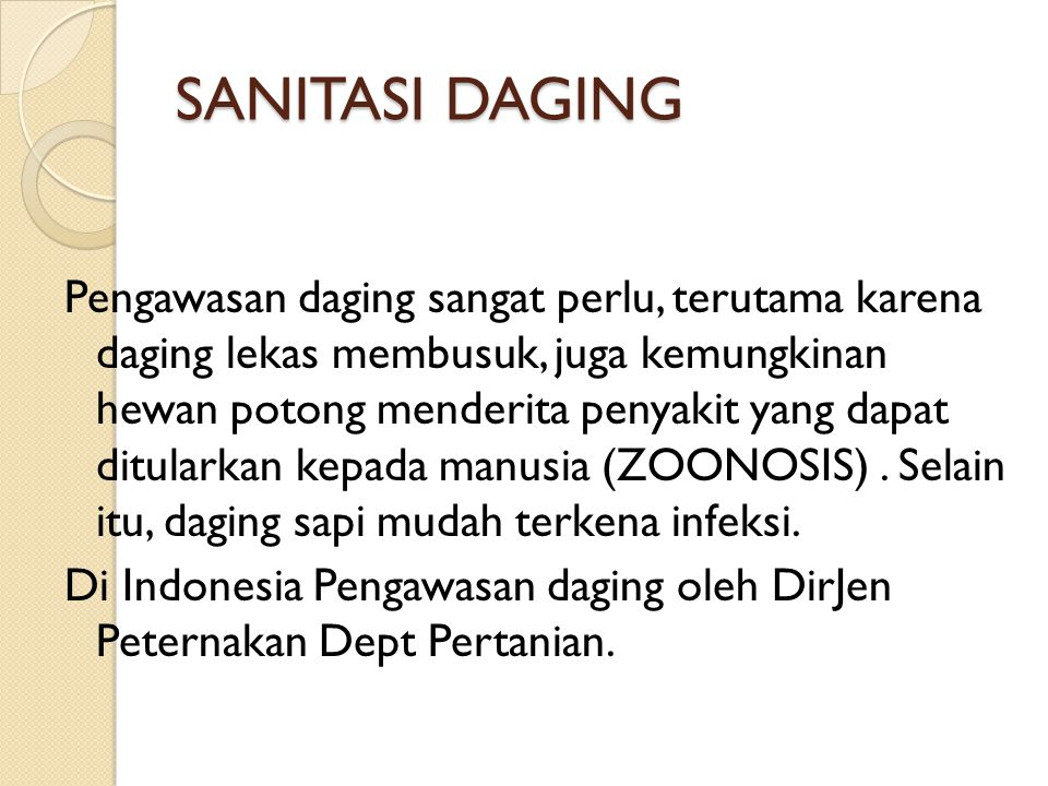 SANITASI DAGING