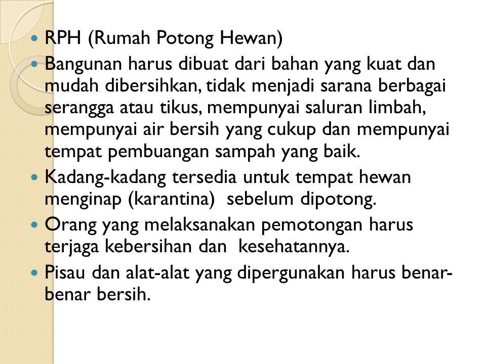 RPH (Rumah Potong Hewan)