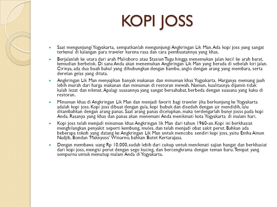 KOPI JOSS