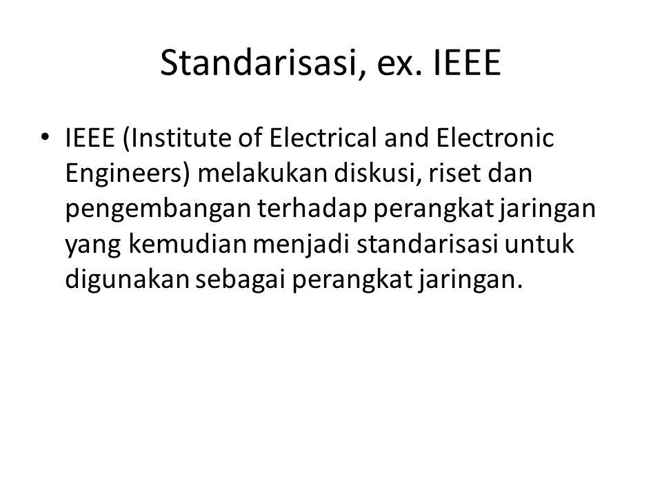 Standarisasi, ex. IEEE
