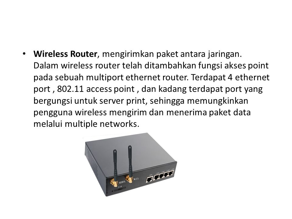 Wireless Router, mengirimkan paket antara jaringan