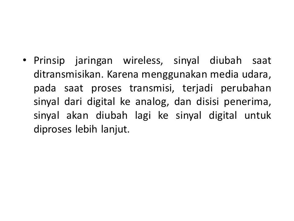 Prinsip jaringan wireless, sinyal diubah saat ditransmisikan