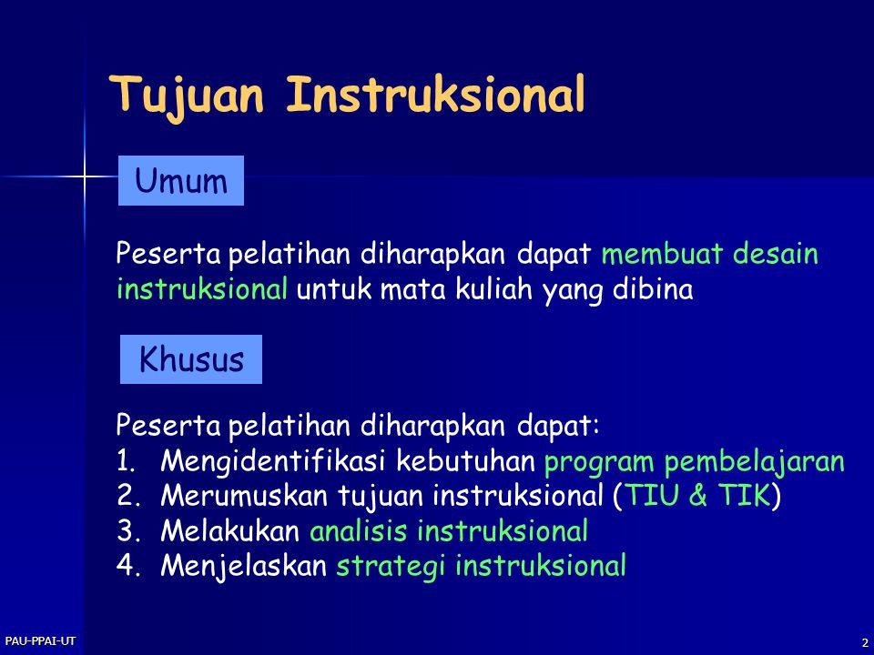 Tujuan Instruksional Umum Khusus