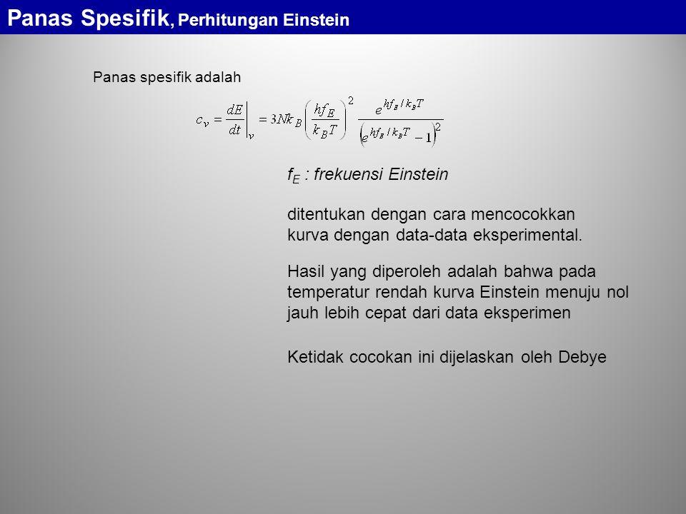 Panas Spesifik, Perhitungan Einstein