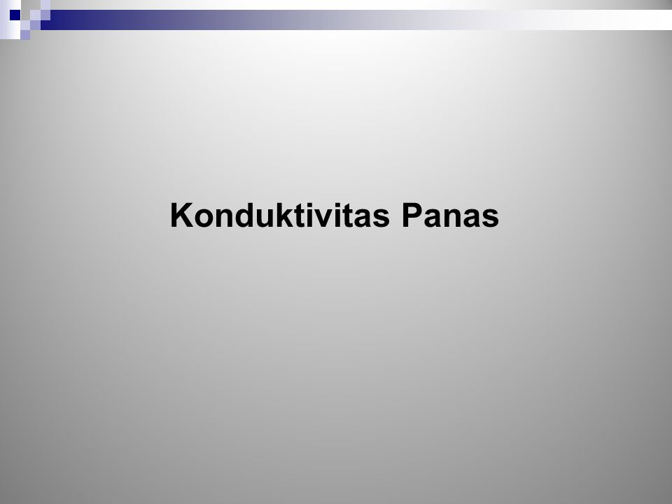 Konduktivitas Panas