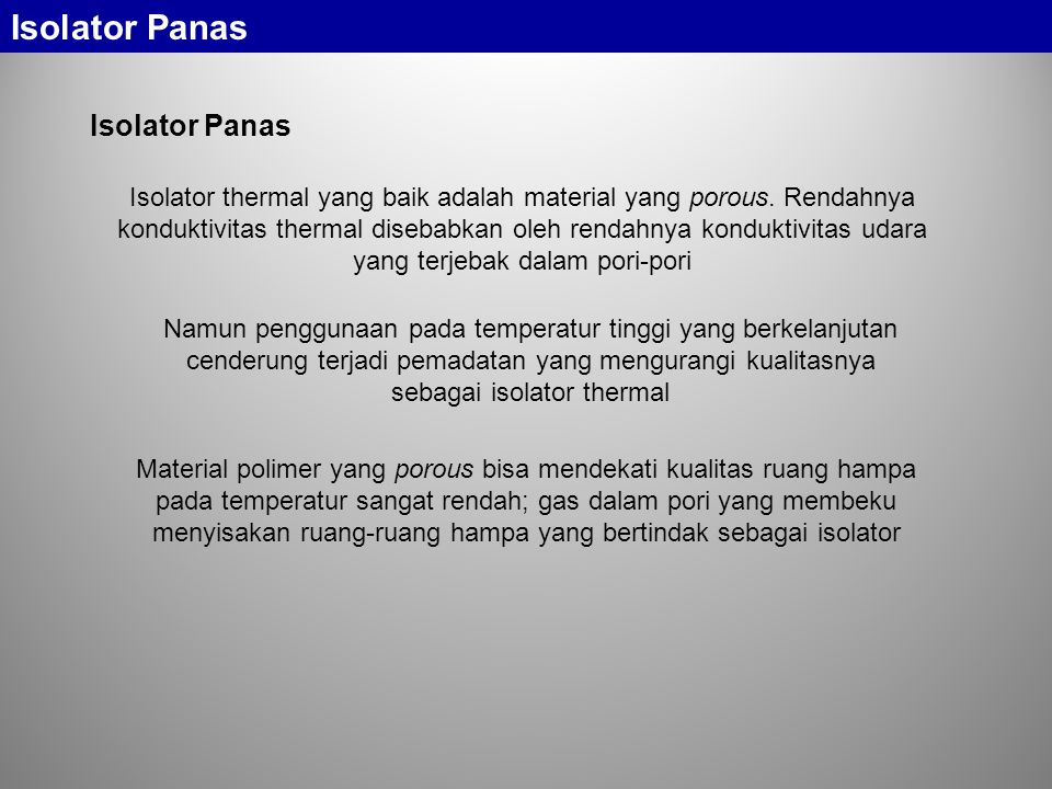 Isolator Panas Isolator Panas