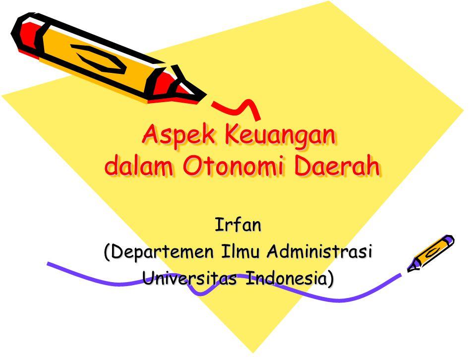 Aspek Keuangan dalam Otonomi Daerah