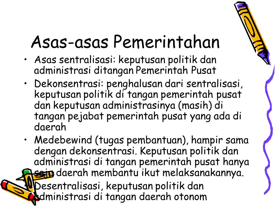 Asas-asas Pemerintahan