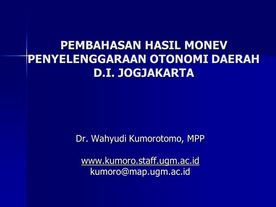 PEMBAHASAN HASIL MONEV PENYELENGGARAAN OTONOMI DAERAH D.I. JOGJAKARTA
