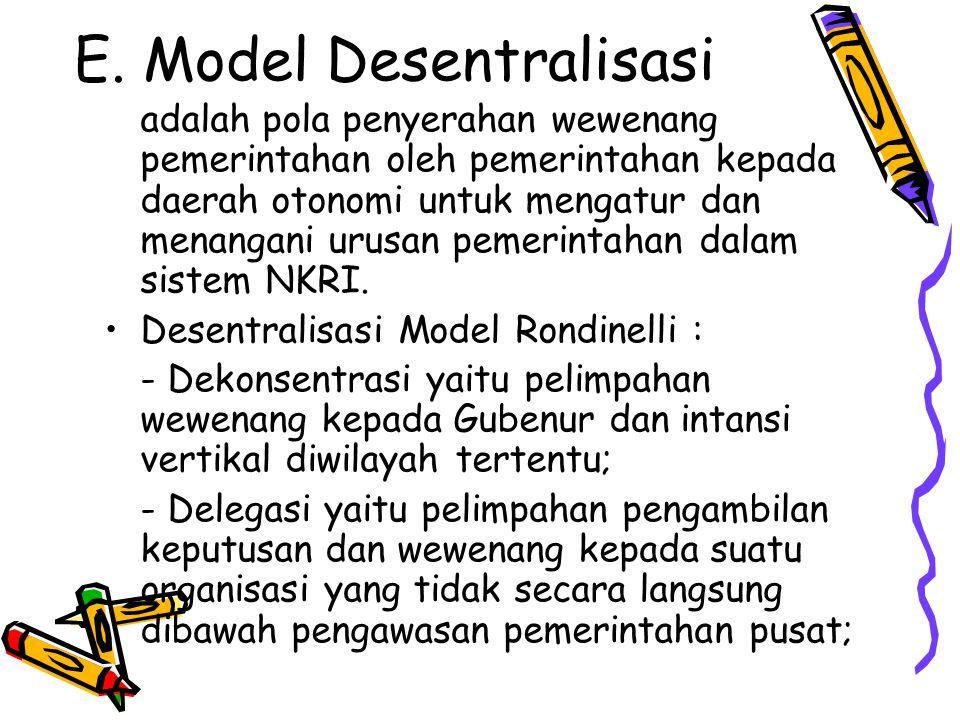 E. Model Desentralisasi